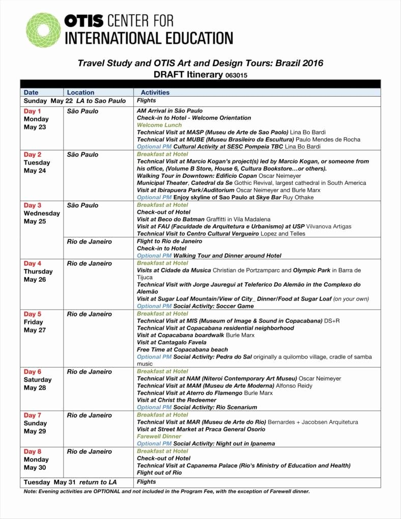 Business Trip Itinerary Template New 9 Travel Calendar Examples Free Word Pdf Excel format