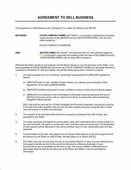 Buy Sell Agreement Llc Template Beautiful Sale Business Agreement