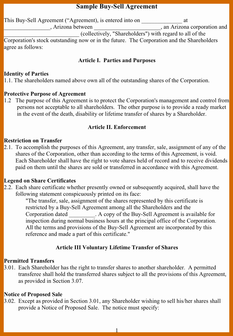 Buy Sell Agreement Llc Template Best Of 8 9 Out Agreement Sample