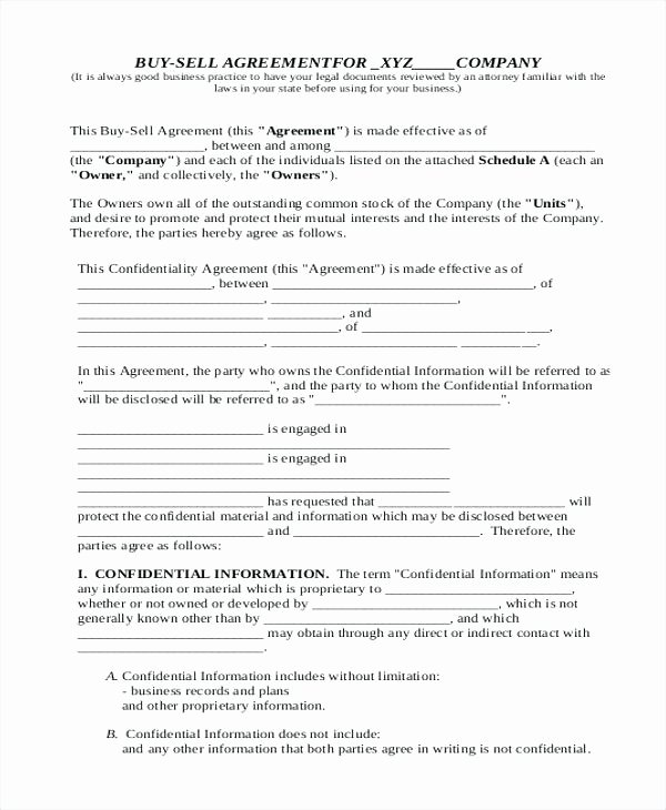 Buy Sell Agreement Llc Template Fresh Free Buy Sell Agreement Llc Template Car Sale Contract