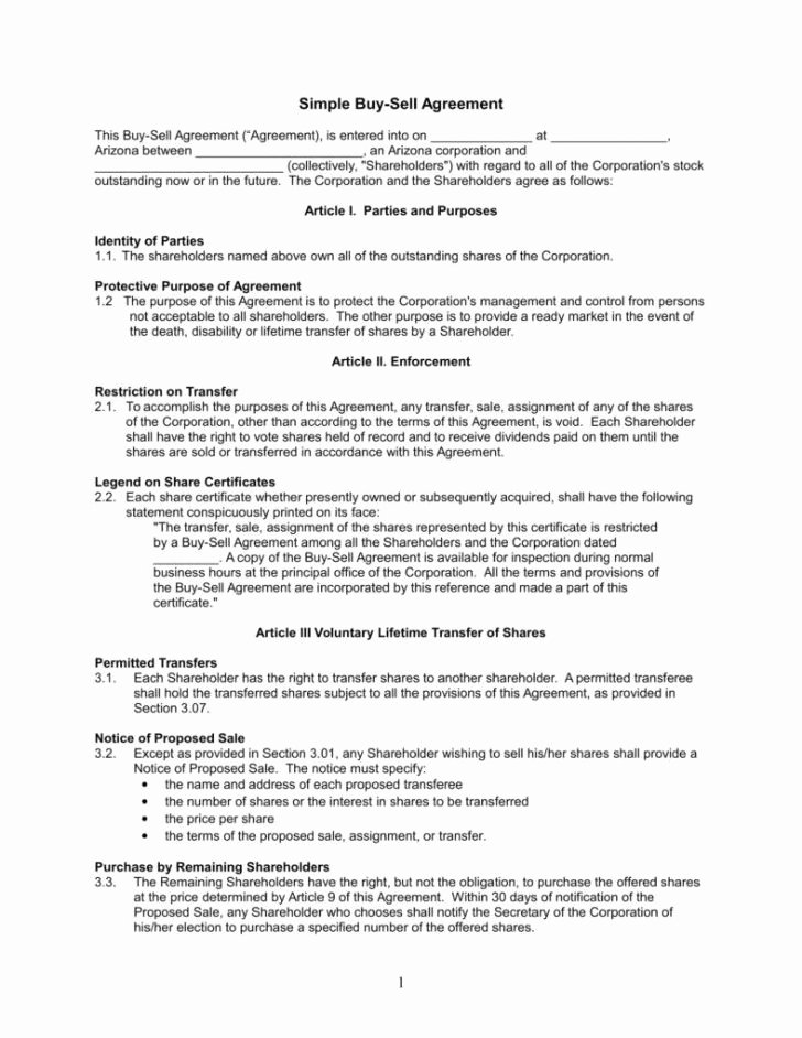 Buy Sell Agreement Llc Template Luxury Agreement Buy Sell Agreement