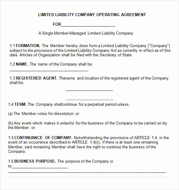 Buy Sell Agreement Llc Template Luxury Operating Agreement 7 Free Pdf Doc Download
