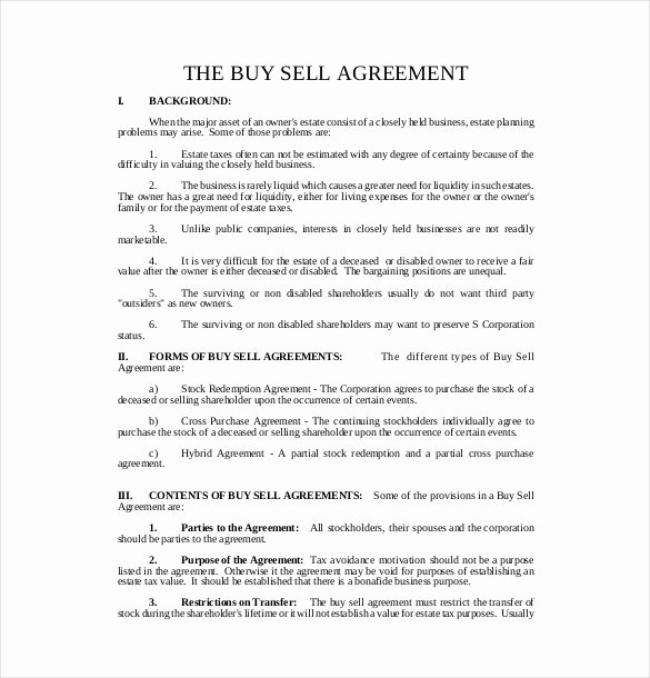 Buy Sell Agreement Llc Template Unique 22 Buy Sell Agreement Templates Pages Docs