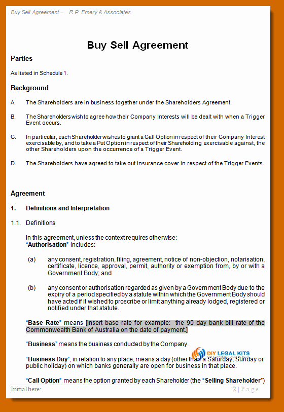 Buy Sell Agreement Llc Template Unique 8 9 Out Agreement Sample