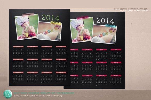Calendar Template for Photoshop Beautiful 20 Psd Calendar Templates & Designs