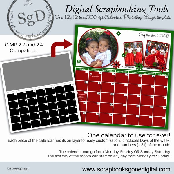 Calendar Template for Photoshop Beautiful Any Month Calendar Shop Layer Template 8 5x11 In