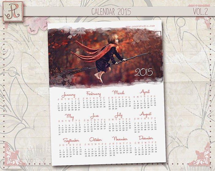 Calendar Template for Photoshop Best Of 35 Best Calendar Templates & 2015 Designs