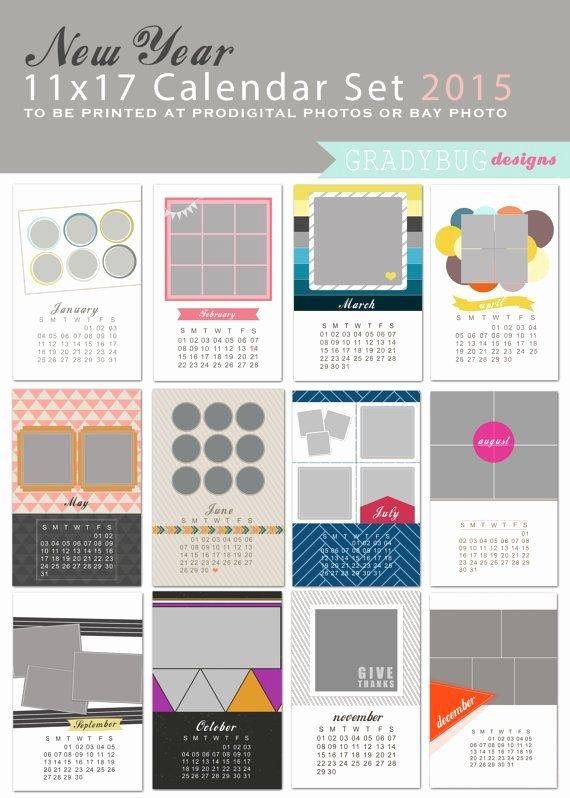 Calendar Template for Photoshop Best Of New Year 2015 Calendar Shop Templates 2015