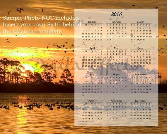 Calendar Template for Photoshop Elegant Calendar Template 2016 Shop Overlay Psd & by