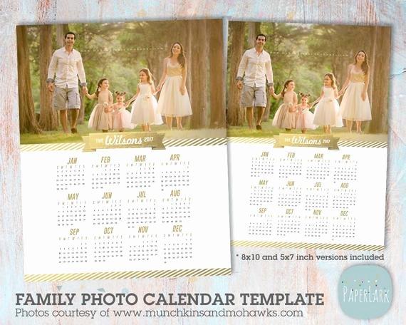 Calendar Template for Photoshop Inspirational 2017 Family Calendar Template Printable Shop Template