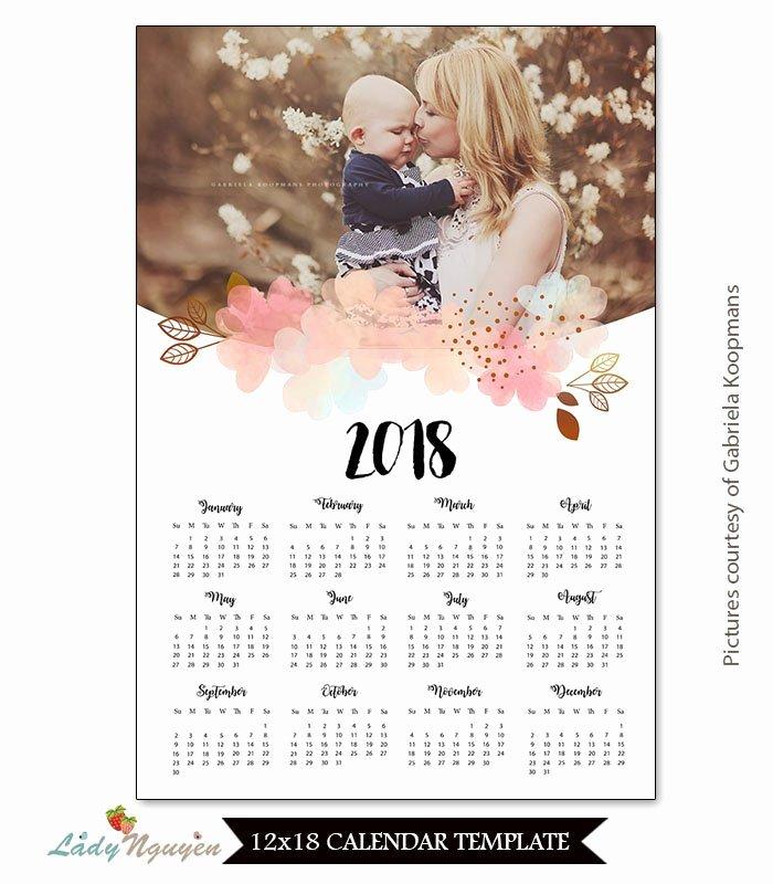 Calendar Template for Photoshop Inspirational Shop Calendar Template 2018 Demireagdiffusion
