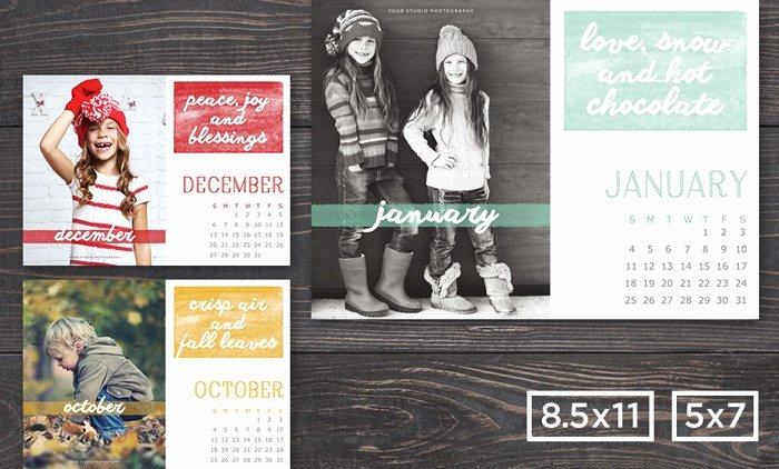 Calendar Template for Photoshop Lovely Shop Calendar Template