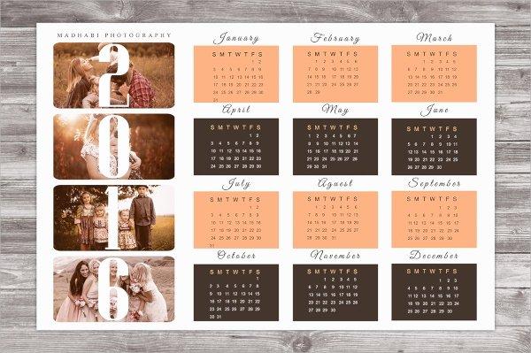 Calendar Template for Photoshop Luxury 15 Calendars