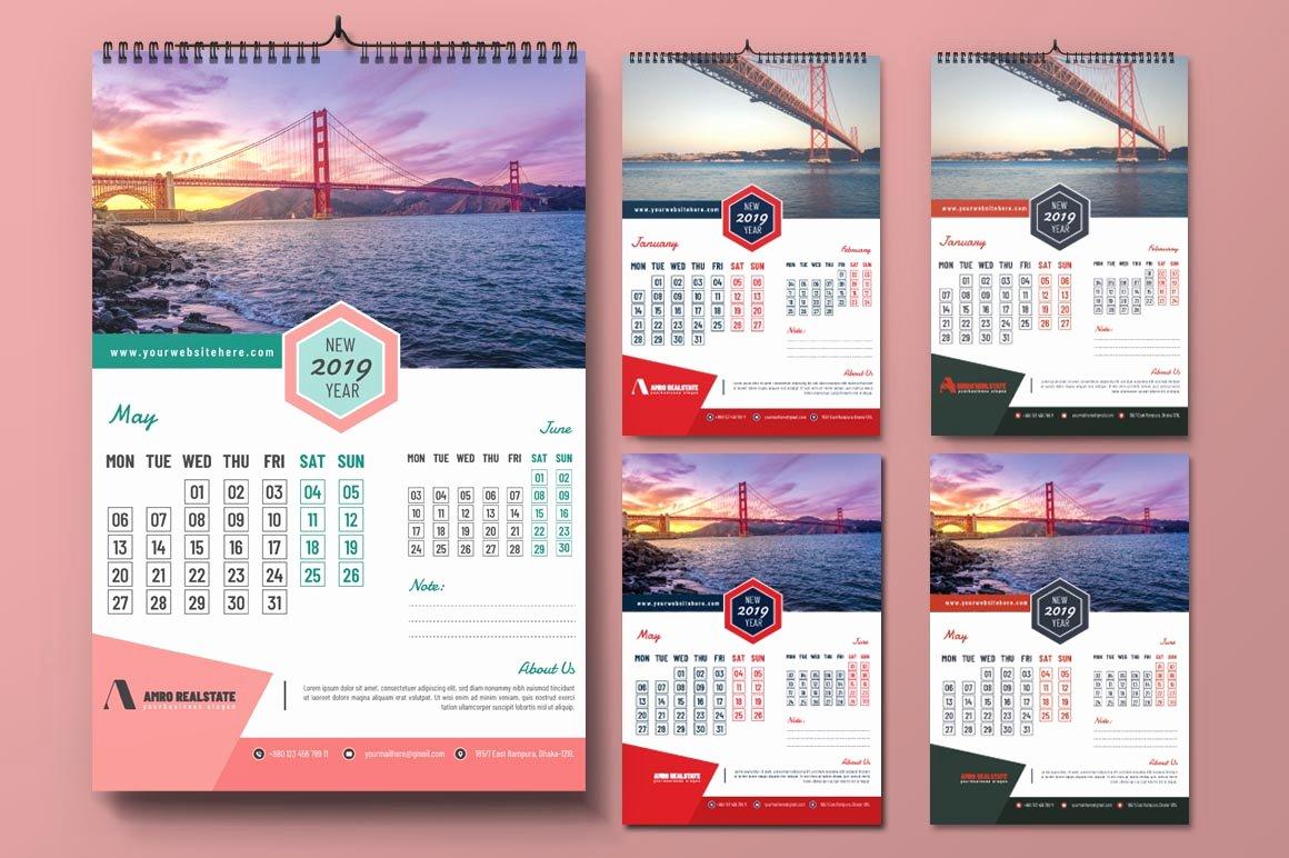 Calendar Template for Photoshop Luxury Shop Action