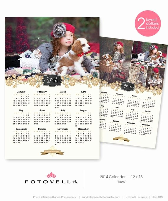 Calendar Template for Photoshop Luxury Unavailable Listing On Etsy