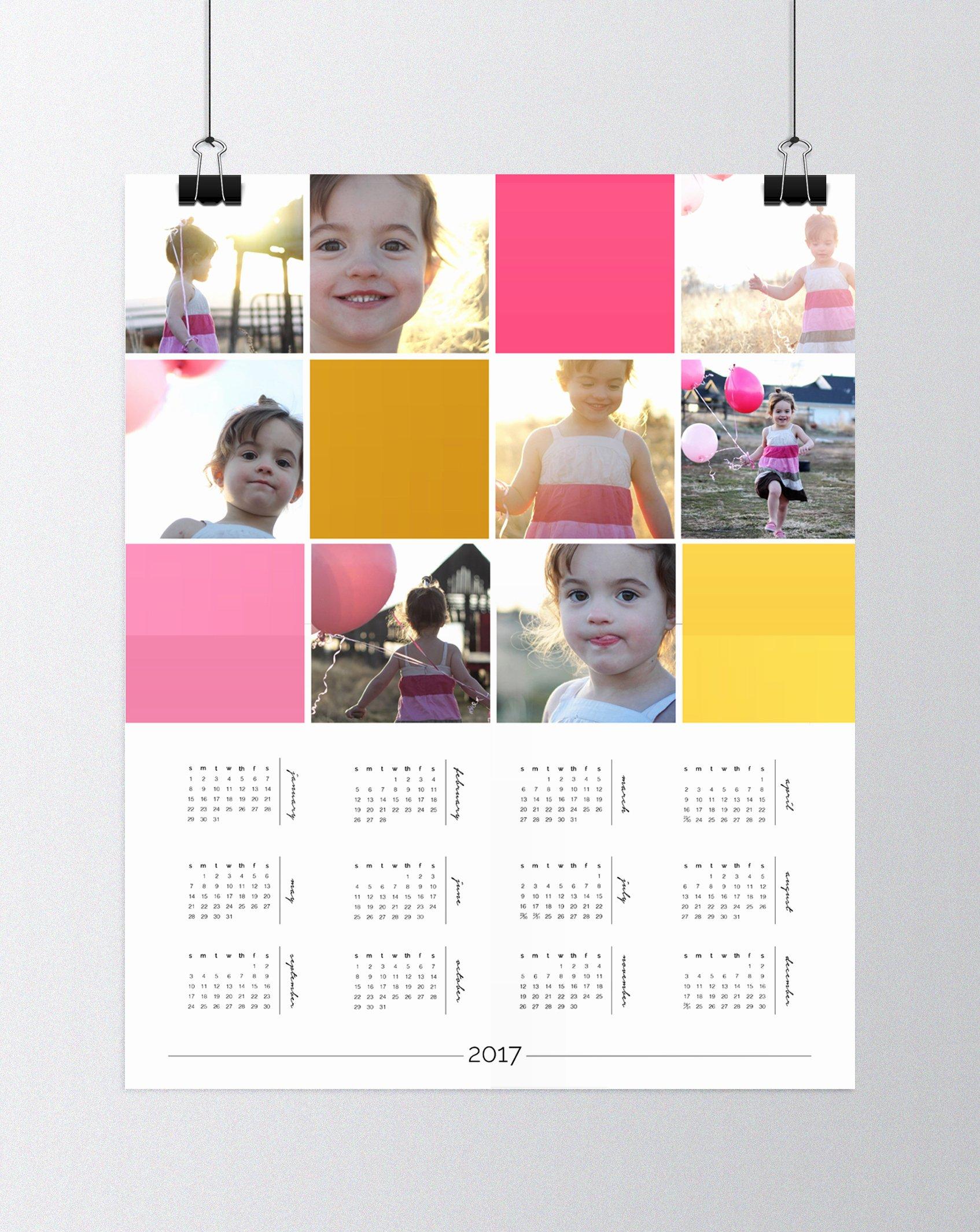 Calendar Template for Photoshop New Make A Personalized Photo Wall Calendar Shop