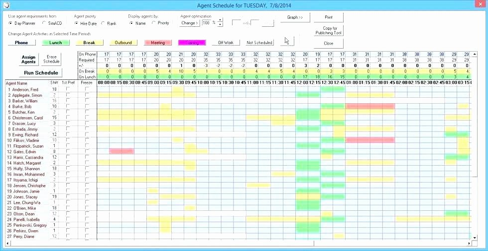 Call Center Schedule Template Excel Inspirational On Call Rotation Schedule Template Call Center Schedule