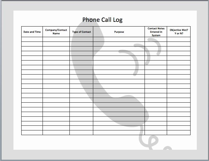 Call Log Template Excel Inspirational Phone Call Log Template Templates Pinterest