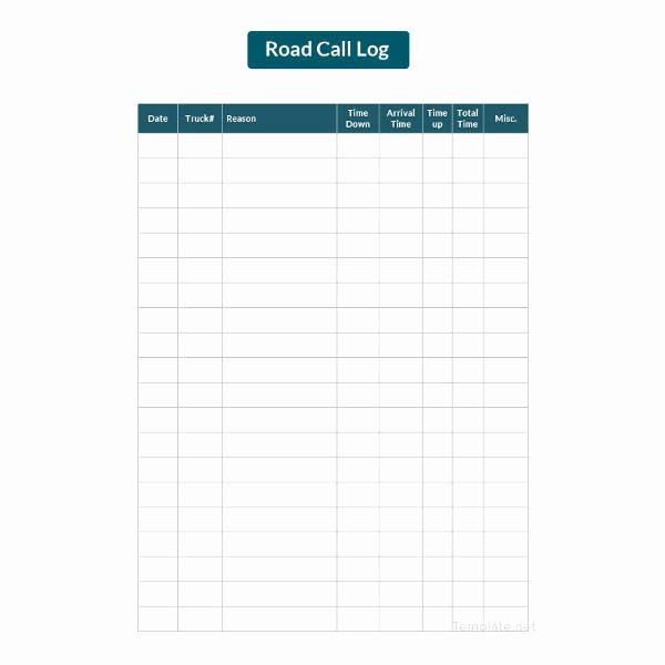 Call Log Template Excel New 15 Call Log Templates Doc Pdf Excel
