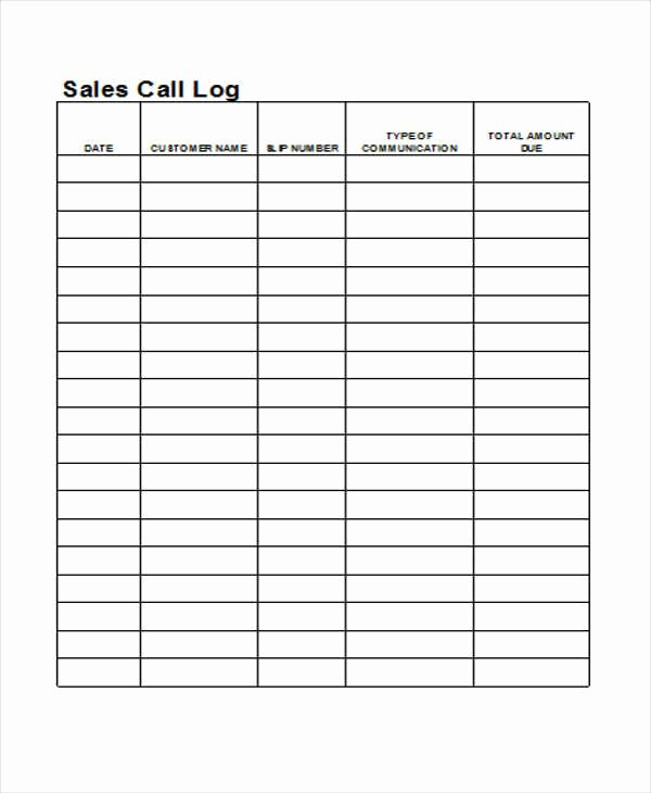 Call Log Template Excel Unique 27 Log Templates In Excel