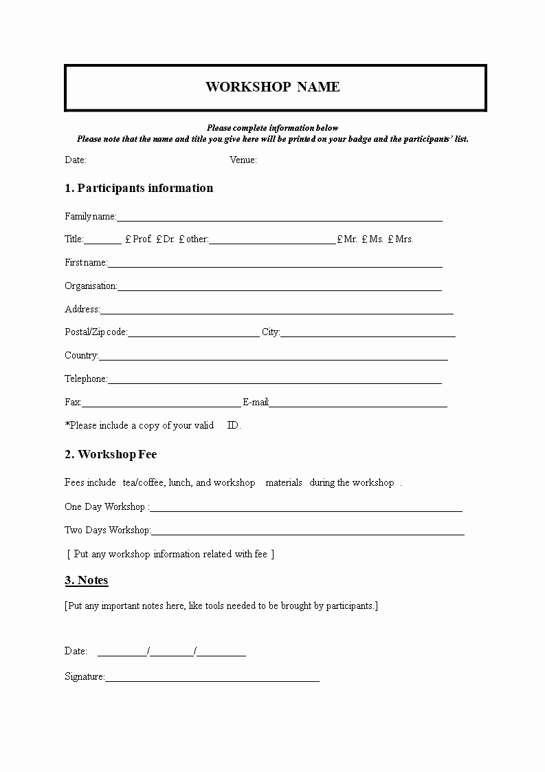 Camp Registration form Template Best Of Church Nursery Registration form thenurseries