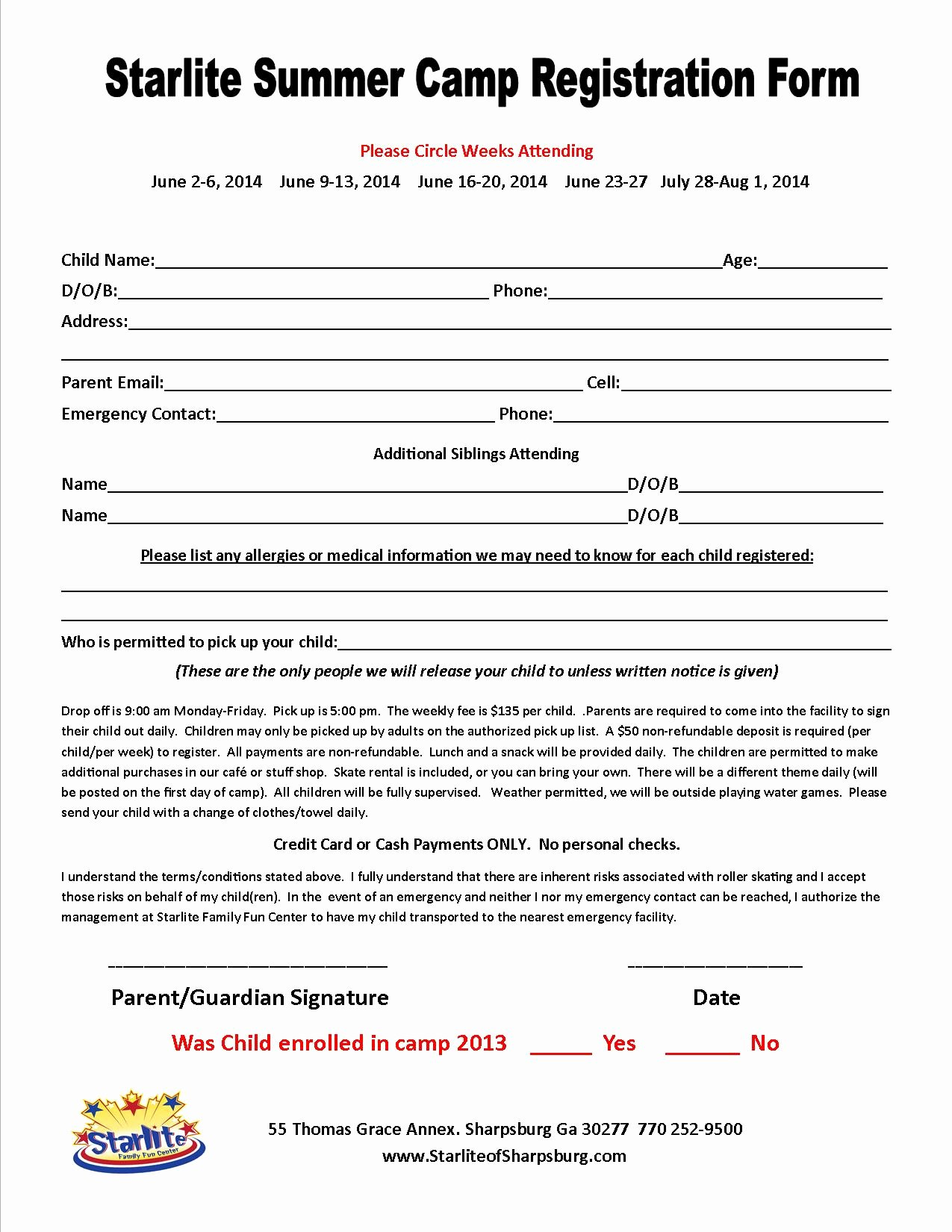Camp Registration form Template Luxury Great Camp Registration form Template S Free Camp