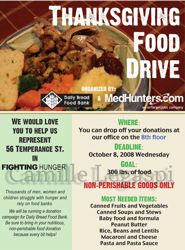 Canned Food Drive Flyer Template Awesome 25 Food Drive Flyer Designs Psd Vector Eps Jpg