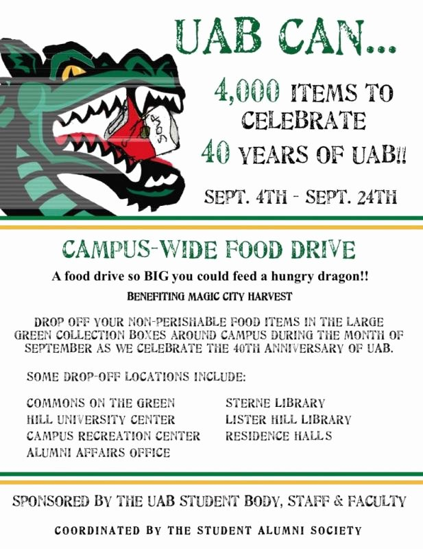 Canned Food Drive Flyer Template Awesome Food Drive Flyer