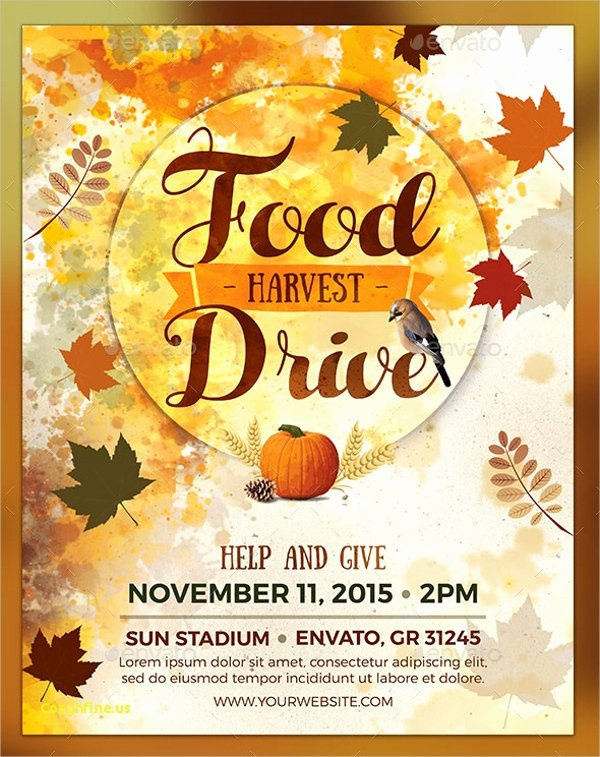 Canned Food Drive Flyer Template Beautiful Inspirational Thanksgiving Food Drive Flyer Template Free