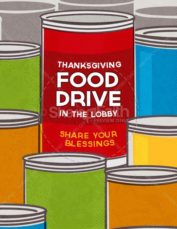 Canned Food Drive Flyer Template Beautiful Thanksgiving Food Drive Religious Flyer Template