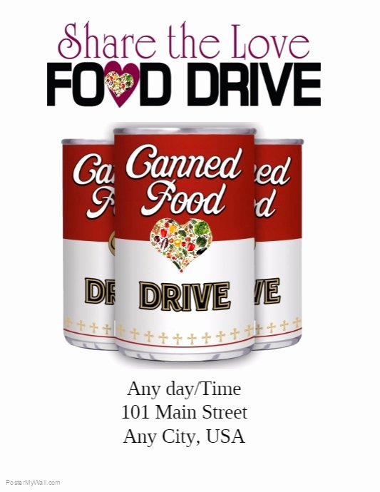Canned Food Drive Flyer Template Best Of Food Drive Template