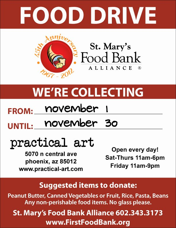 Canned Food Drive Flyer Template Best Of No Tax November A Food Drive for St Mary's Food Bank