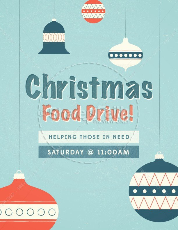 Canned Food Drive Flyer Template Elegant Christmas Food Drive Ministry Flyer Template