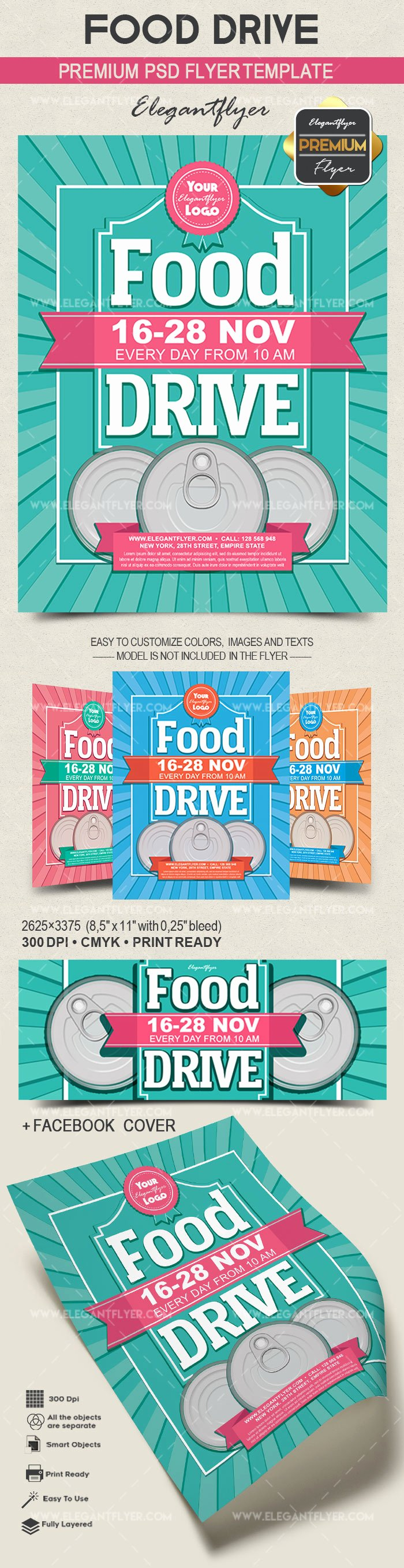 Canned Food Drive Flyer Template Elegant Food Drive – Flyer Psd Template – by Elegantflyer