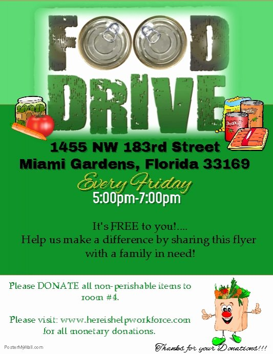 Canned Food Drive Flyer Template Elegant Food Drive Flyer Template