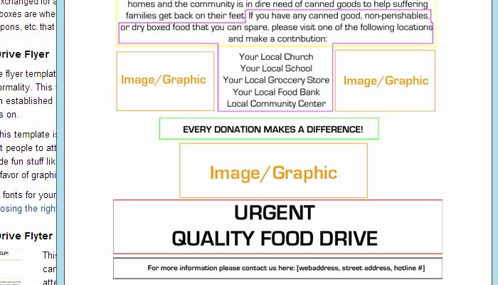 Canned Food Drive Flyer Template Fresh 5 Canned Food Drive Flyer Templates