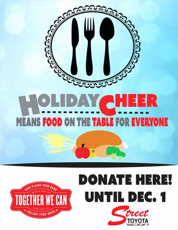 Canned Food Drive Flyer Template Inspirational Free Holiday Flyer Template Food Drive Flyers Templates