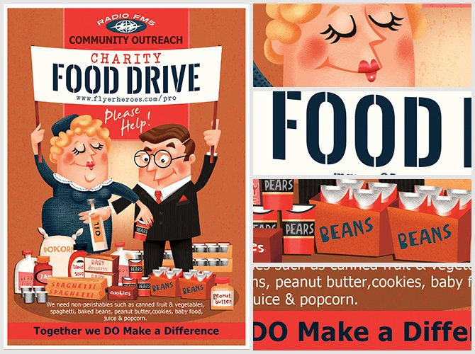 Canned Food Drive Flyer Template Luxury Charity Food Drive Flyer Template Flyerheroes