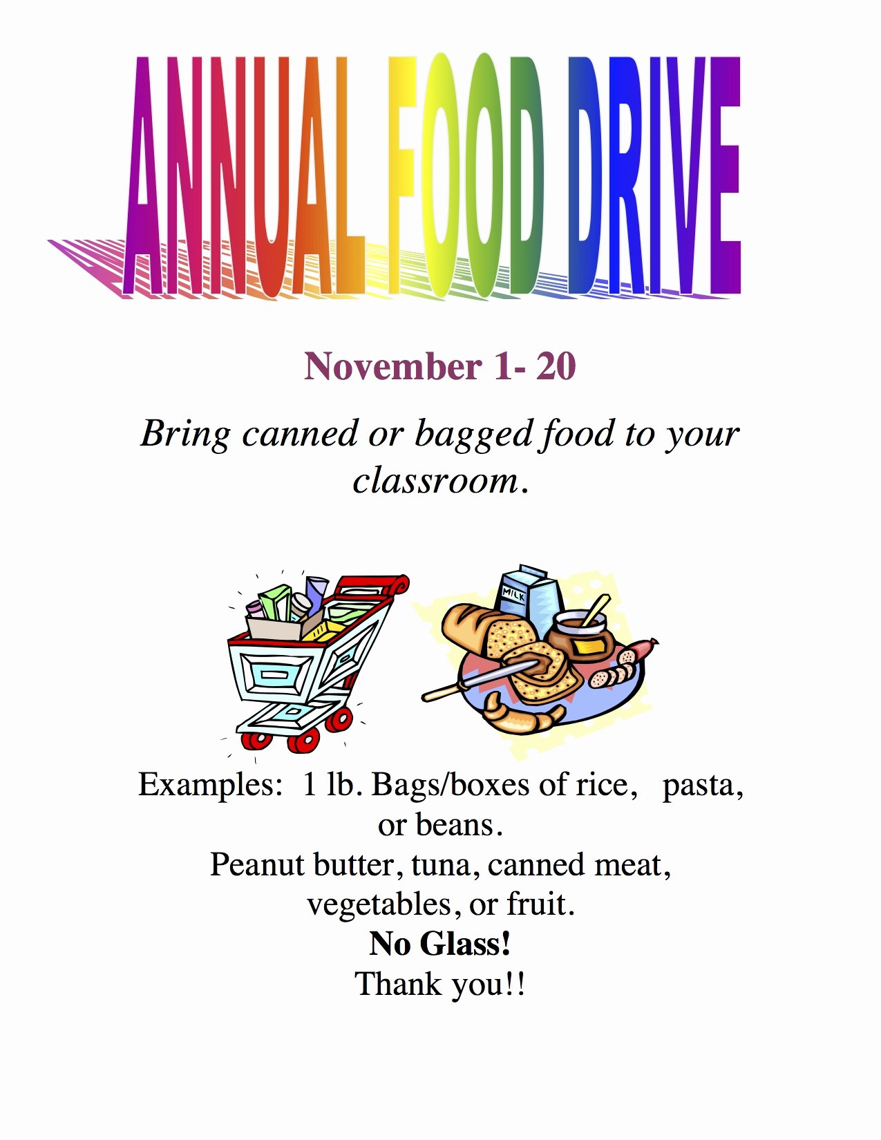 Canned Food Drive Flyer Template Luxury Current events… Camarena Elementary