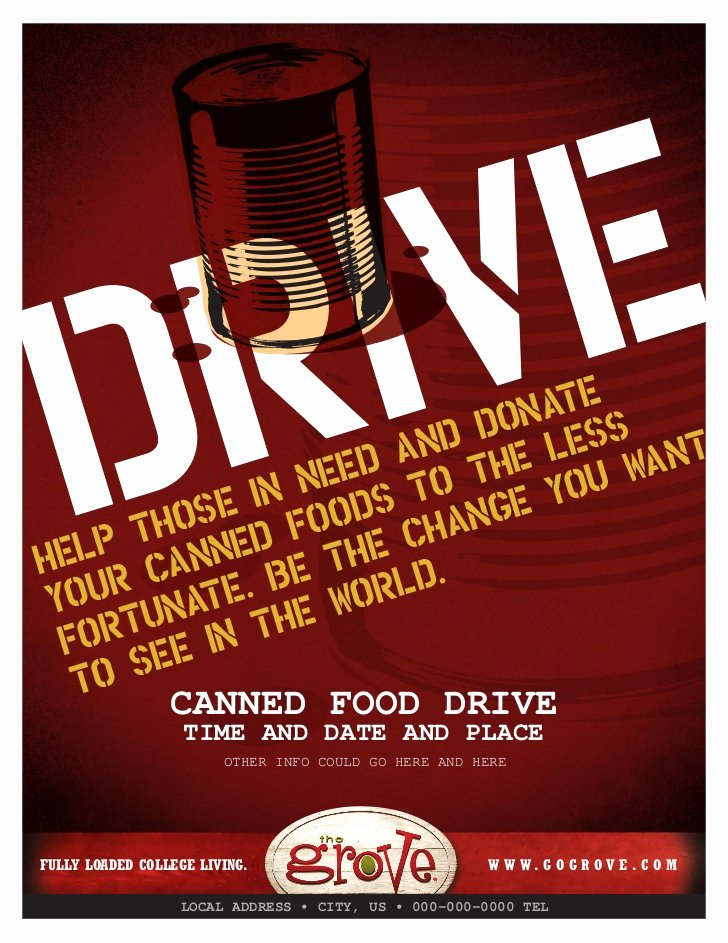 Canned Food Drive Flyer Template Luxury Tg Canned Food Drive Flyer