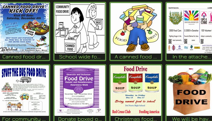 Canned Food Drive Flyer Template New 5 Canned Food Drive Flyer Templates