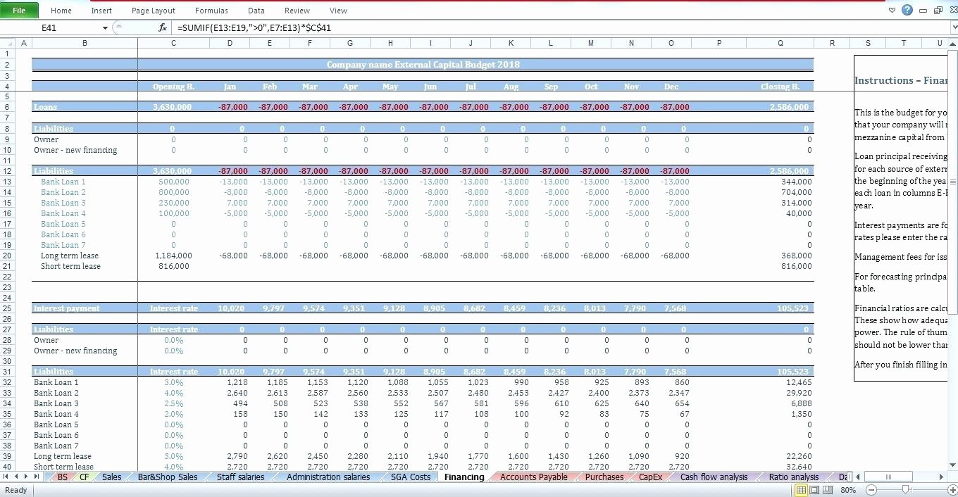 Capital Expenditure Budget Template Excel Beautiful Capital Expenditure Bud Template