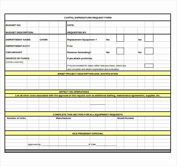 Capital Expenditure Budget Template Excel Unique 8 Capital Expenditure Bud Templates Free Sample