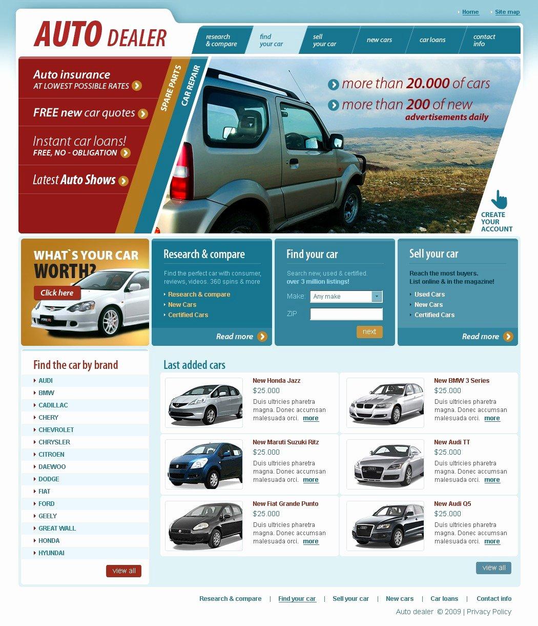 Car Dealer Website Template Free Awesome Car Dealer Website Template
