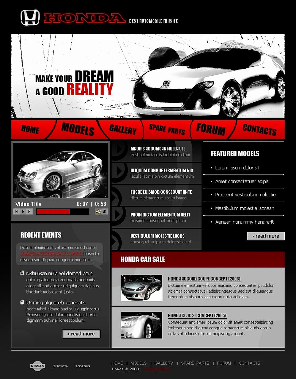 Car Dealer Website Template Free Awesome Car Dealer Website Template