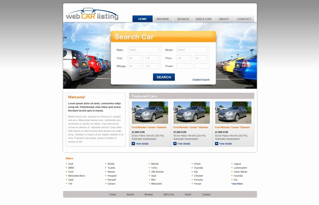 free car website template 98