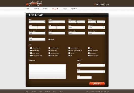 Car Dealer Website Template Free Beautiful Car Dealer Website Template