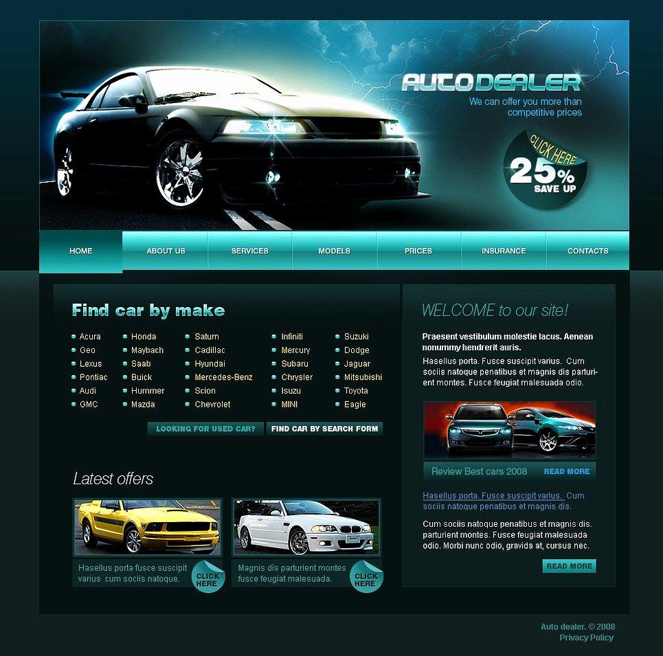 Car Dealer Website Template Free Best Of Car Dealer Website Template