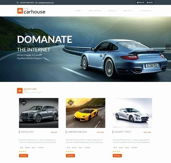 Car Dealer Website Template Free Best Of Car Dealer Website themes Templates Free Premium for