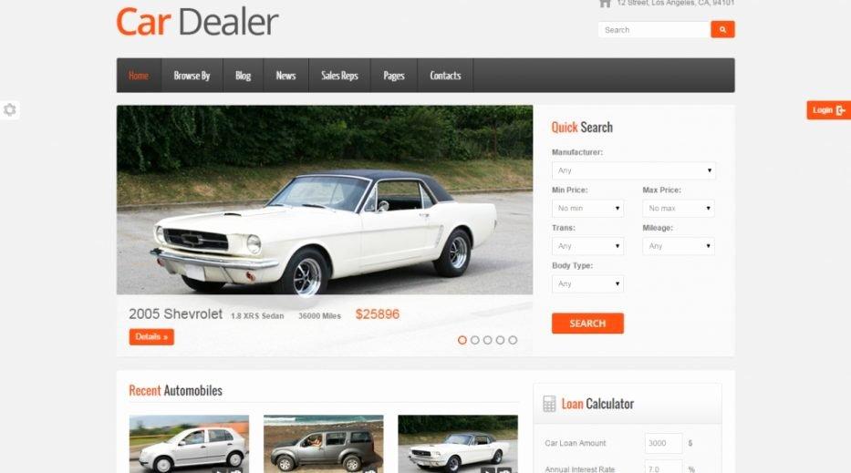 Car Dealer Website Template Free Elegant Best Car Dealer Website Templates 18 Best Car Dealer